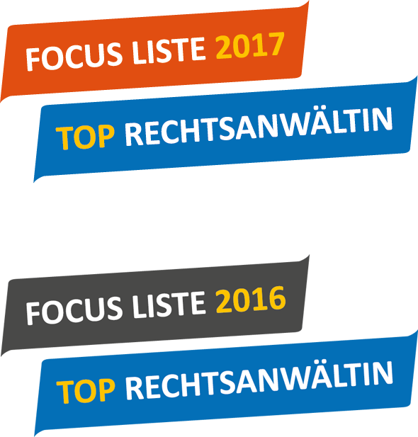 Focus-Siegel 2016-2017 - Deutschlands TOP-AnwältInnen - RAin Ulrike Badewitz, Berlin